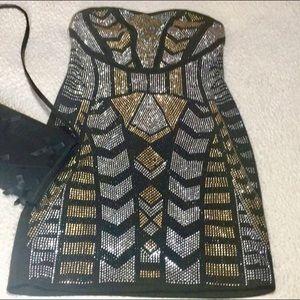 NWOT Front embellished mini dress size medium 💕